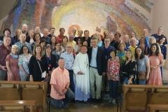 Father Leo accompagna il movimento dei pellegrini cattolici di Baltimora, U.S.A. al Santuario della Madonna delle Lacrime di Siracusa.