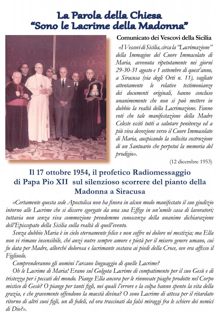 Comunicato stampa della Conferenza Episcopale Sicilianae il Comunicato storico del 1953