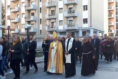In processione con Sua Eccellenza Mons. Bregantini Arcivescovo Metropolita di Campobasso Bojano