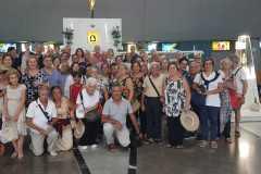 Gruppo di pellegrini provenienti da Tricase (Puglia) in pellegrinaggio alla Madonna delle lacrime di Siracusa.